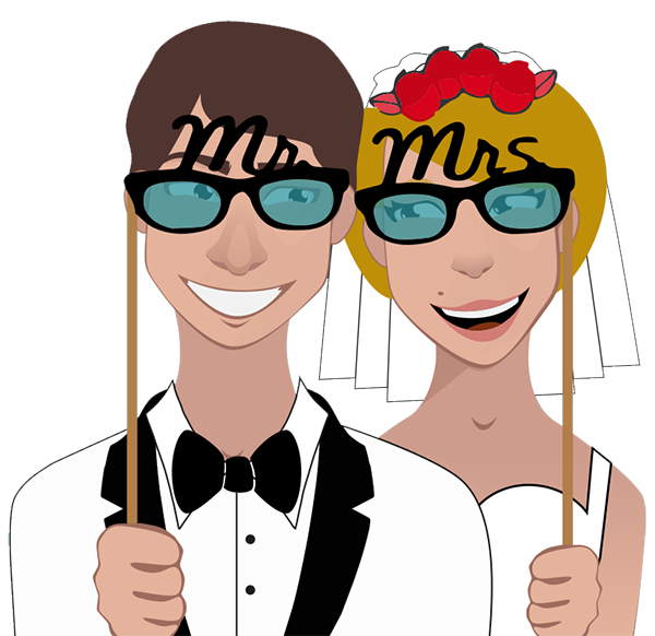married couple in photo booth hire birmingham pose 1